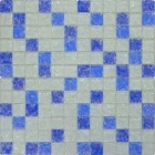 Мозаика 30x30 Grand Kerama Микс белый голубой синий колотый, арт. 803