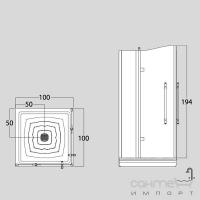 Душевая дверь в нишу Treesse Box doccia Blanque 100x194h