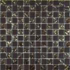 Мозаика 30x30 Grand Kerama Шахматка шоколад-завиток золото, арт. 808