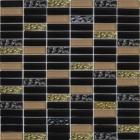 Мозаика 30x30 Grand Kerama Микс черный-черный рифленый-бежевый, арт. 1084