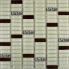 Мозаика 30x30 Grand Kerama Микс охра-коричневый-платина рифленая, арт. 1085