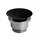 Донный клапан для раковин Simas LFT Spazio PLCE nero черная керамика/хром