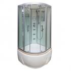 Гидромассажный бокс с глубоким поддоном Veronis BV-5-100 профиль сатин/стекло в цвете
