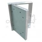 Алюминиевый ревизионный люк Стандарт на петлях под покраску/обои 400 мм