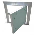 Алюминиевый ревизионный люк Стандарт с коробом под покраску/обои 200 мм
