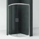 Полукруглая душевая кабина Novellini Kali R KALIR80-1B профиль silver, стекло прозрачное