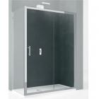 Душевая дверь Novellini Kali 2P KALI2P144-1B профиль хром, стекло прозрачное
