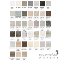 Душевой поддон из керамогранита Aquanit с сифоном Slope 90х90 Beton Grey серый бетон