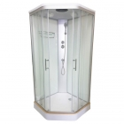 Душевой бокс Veronis BN-1-90 white профиль хром, задние стенки белые, двери прозрачные