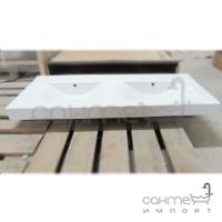 Раковина керамическая двойная Vito VT-0051 белая