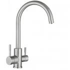 Смеситель для кухни с изливом для фильтрованной воды Syntra SKF-С 90 ST нержавеющая сталь