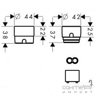 Набор удлинения для раковины из стены HANSGROHE 31971000