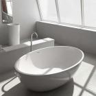 Ванна из литого камня iStone Qliuia WD6556 Matt White матовый белый камень