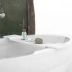 Полочка для ванны iStone Square WD01109 Matt White матовый белый камень