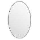 Зеркало с LED-подсветкой iStone Oval WD2929-2 рама белый матовый камень
