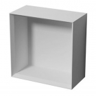 Полка 30см iStone Square WD0193 белый матовый камень