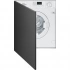 Встраиваемая стиральная машина с сушкой Smeg LSTA147S белая
