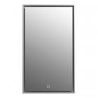 Зеркало с LED-подсветкой iStone Patience WD2912-2 рама белый матовый камень