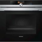 Духовой шкаф Siemens iQ700 HB676G0S1 черное стекло/нержавеющая сталь