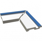 Внешний угол Finnland 23,8x11,5 RAKO POOL White/RAL 2902035 Белый/Синий XPA56005