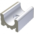 Переливной желоб с отверстием для слива Wiesbaden 19,5x15 RAKO POOL White Белый XPD54023