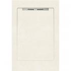 Душевой поддон из керамогранита Aquanit с сифоном Slope 90х1350 Arc White светлый бежевый