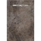 Душевой поддон из керамогранита Aquanit с сифоном Slope 90х1350 Gusto Taupe Grey коричневый мрамор