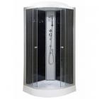Гидромассажный бокс Vivia 62 RC профиль сатин, задние стенки черные, стекло графит