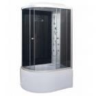 Гидромассажный бокс Vivia 81 R RC правосторонний, профиль сатин, задние стенки черные, стекло графит