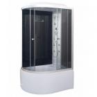 Гидромассажный бокс Vivia 82 R RC правосторонний, профиль сатин, задние стенки черные, стекло графит