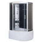Гидромассажный бокс Vivia 167 L RC левосторонний, профиль сатин, задние стенки черные, стекло графит