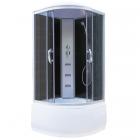 Гидромассажный бокс Vivia 195 DV профиль сатин, задние стенки черные, стекло серое