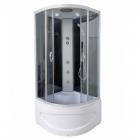 Гидромассажный бокс Vivia 95 ML DP/VA-1095 DP профиль сатин, задние стенки черные, стекло серое