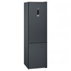 Отдельностоящий двухкамерный холодильник с нижней морозильной камерой Siemens KG39NXX306 черная сталь