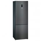 Отдельностоящий двухкамерный холодильник с нижней морозильной камерой Siemens KG49NXX306 черная сталь