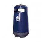Урна уличная Glasdon Topsy 2000 G502 90л синяя с серой накладкой