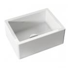 Полувстраеваемая керамическая кухонная мойка без перелива Kerasan Hannah Essex 5410 белая керамика