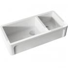 Полувстраеваемая керамическая кухонная мойка Kerasan Hannah Oxfordshire 5430 белая керамика
