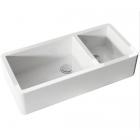 Полувстраеваемая керамическая кухонная мойка Kerasan Hannah Oxfordshire 5431 белая керамика
