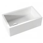 Полувстраеваемая керамическая кухонная мойка без перелива Kerasan Hannah Essex 5411 белая керамика