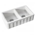 Полувстраеваемая керамическая кухонная мойка Kerasan Hannah Surrey 5450 белая керамика