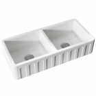 Полувстраеваемая керамическая кухонная мойка Kerasan Hannah Surrey 5451 белая керамика