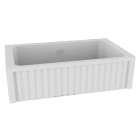 Полувстраеваемая керамическая кухонная мойка Kerasan Hannah Hampshire 5461 белая керамика