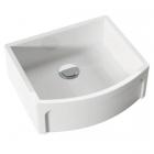 Полувстраеваемая керамическая кухонная мойка Kerasan Hannah Devon 5440 белая керамика