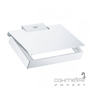 Держатель для туалетной бумаги с крышкой Grohe Selection Cube 40781000 хром