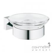Мыльница подвесная Grohe Essentials Cube 40754001 хром/прозрачное стекло
