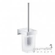 Ершик для унитаза подвесной Grohe Selection Cube 40857000 хром/матовое стекло