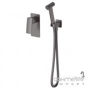 Смеситель скрытого монтажа с гигиеническим душем Imprese Grafiky zmk041807120 черный