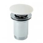 Донный клапан KFA Armatura KLIK-KLAK 660-554-00 белый, хром
