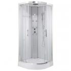 Гидромассажный паровой бокс Orans SR-86150S задние стенки белое стекло, профиль сатин, стекла прозрачные